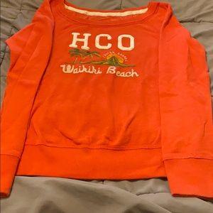 Hollister wide neck sweatshirt size large.